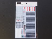 BARACCA【SGTD-001】1/24 SUPERGT 500 CLASS CAR NUMBER DECAL【2005‐2012】