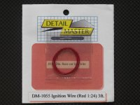 DETAIL MASTER【DM-1055】igntion Wire 〈Red 〉3ft.