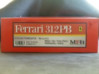 Model Factory Hiro 【K-587】1/12 Ferrari 312PB VerA Fulldetail Kit