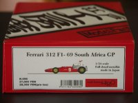 MFH【K-096】1/24 FERRARI 312F1'69 South Africa GP