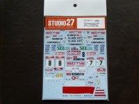 """STUDIO27【DC-1121】1/24 Lancia Super Delta """"A.R.T.""""#7/#8 Sanremo/TourDeCorse 1992 Decal(H社対応)"""