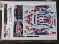 STUDIO27【ST27-DCBBEL004】1/24 Peugeot 207 S2000 #1 Geko Ypres Rally 2010 Decal