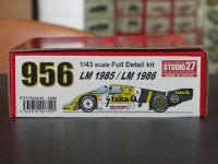 STUDIO27【FD-43014C】1/43 956 NEWMAN/taka-Q 1985/86 (Long tail) kit