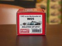 STUDIO27【FD-43028】1/43 W05 Mareysia GP 2014 Kit