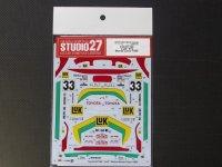"STUDIO27【DC-1024】1/24 ST165 ""LUK"" #33 Monte-Carlo 1989 DECAL(A社対応)"