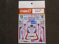 """STUDIO27【DC-1132】1/24 Lancia Super Delta """"Valvoline"""" Monte-Carlo 1996 Decal(H社対応)"""