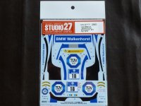 "STUDIO27【DC-1133】1/24 BMW Z4""Walkenhorst Racing""#18 Nur 2015 DECAL(F社対応)"