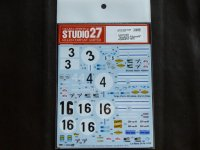 "STUDIO27【DC-1137】1/24 512S ""Scuderia Filipinetti""#3/#4/#16 1970 Decal (F社対応)"