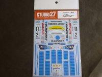 "STUDIO27【DC-1170】1/24 962C""BLAUPUNKT"" #2 #11 Supercup 1989 Decal(H社対応)"