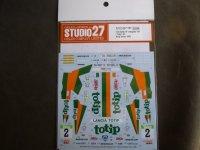 """STUDIO27【DC-1183】1/24 Delta HF Integrale 16v """"Totip"""" #2 Rally Valeo 1989 Decal(H社対応)"""