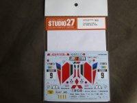 STUDIO27【DC-1187】1/24 GALANT VR-4 #9 1000Lakes 1989 DECAL(H社対応)