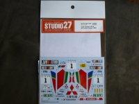 STUDIO27【DC-1197】1/24 GALANT VR-4 #1 lvory Coast 1992 DECAL(H社対応)