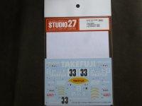 """STUDIO27【DC-1198】1/24 962C""""TAKEFUJI"""" JSPC FUJI 500Km 1990 Decal(H社対応)"""