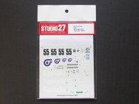 """STUDIO27【DC-133】1/24 ニッサンスカイライン GT-R """"Kyoseki"""" Gr.A '92/93 decal"""