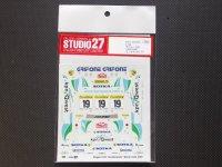 STUDIO27【DC-415C】1/24 206WRC GRIFONE Monte 2001 Decal