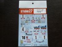 "STUDIO27【DC-584D】1/24 Lancia Stratos ""Chaldonet""#1 1978-1980 Decal (H社対応)"