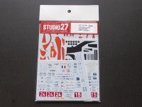STUDIO27【DC-995】【プランC】1/24 PESCALO Gulf #15/24 LMP1 LM 2011 DECAL (simil-r社対応)