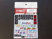 STUDIO27【DC-999】【プランC】1/24 FORD GT1 FIA-GT 2013 DECAL (simil-r社対応)