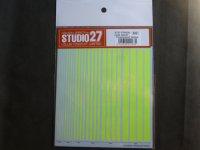 STUDIO27【FP-0036】Line Decal(Fluorescent Yellow)