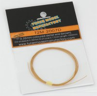 T2M【T2M-2007D】0.35mm colored detail wire (brown)