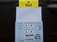 TABU DESIGN【24073】1/24 Celica TA64 #4/#5 Oman International Rally 1984 Decal(A社対応)