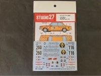 STUDIO27【DC-1216】1/24 BMW 2002 ti #116/#220 Olympia Rally 1973 Decal(H社対応)