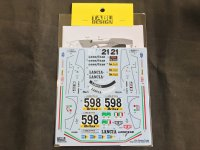 TABU DESIGN【TABU-24018R】1/24 Stratos Turbo #598 Gilo de Italia Decal(T社対応)