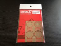 STUDIO27【FP-24220】1/24 Gr.C-car  Tyre template-C   (1990〜)