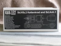FOXMODELS【K024001】1/24 Sd.Kfz.2 Kettenkrad and Sd. Anh.1