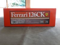 Model Factory Hiro 【K-639】1/12 FERRARI 126CK VerC  Fulldetail Kit