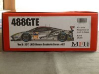 Model Factory Hiro 【K-646】1/24 FERRARI 488GTE VerD Propotion Kit