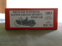 MFH【K-663】1/9scale Fulldetail Kit : Brough Superior AGS Sidecar 1937