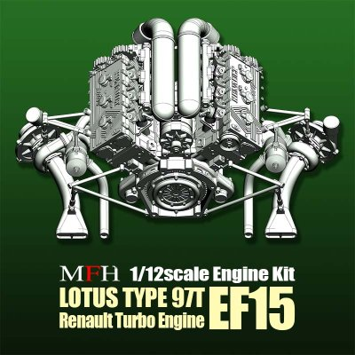 画像2: Model Factory Hiro【KE-013】1/12scale LOTUS 97T Engine Kit
