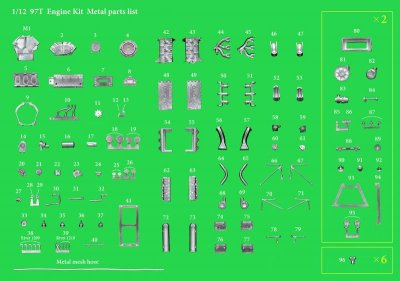 画像3: Model Factory Hiro【KE-013】1/12scale LOTUS 97T Engine Kit