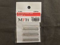 MFH【P1014】No.07 : Hexagon rivets with flange-L [60 pieces]