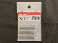 MFH【P1015】No.08 : Round socket hexagon rivets with flange-L [60 pieces]