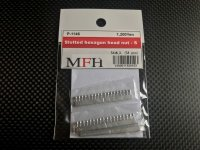 Model Factory Hiro 【P1146】No.S12 : Slotted hexagon head nut-S [54 pieces]