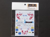 "MZ DECALS【MZ-034】Audi R8""Flyng lizard""#35/45 Daytona 2014 Decal"