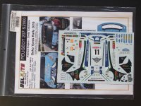 STUDIO27【ST27-DCBBEL002】1/24 Peugeot 207 S2000 #11 Geko Ypres Rally 2010 Decal