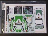 STUDIO27【BEL-DEC003】1/24 Peugeot 207 S2000 #9 Geko Ypres Rally 2010 Decal