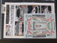 STUDIO27【ST27-DCBBEL008】1/24 Peugeot 207 S2000 #16 Geko Ypres Rally 2011 Decal