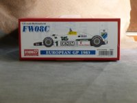 STUDIO27【FD-20006】1/20 FW08C European GP 1983 Kit
