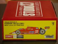 STUDIO27【FR-2010】1/20 FERRARI  126 CX (1981)WEST USA