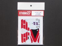 STUDIO27【DC-838】1/12 DUCATI GP9 #69 Test 2008 Decal
