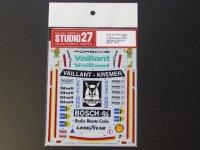 "STUDIO27【DC-1001】1/12 PORSCHE 934""Veillant Klemer""#6 NURNBERG 200 MI./#7 DIJON 6h 1976 Decal(T社対応)"