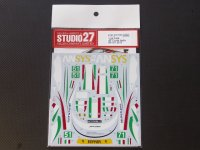 STUDIO27【DC-1003】1/24 F458 Italia #71/51 2013 decal