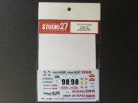 "STUDIO27【DC-1031】1/24 ALPINE A110 ""ALRIC""#98 MonteCarlo 1977 Decal"