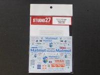 """STUDIO27【DC-1065】1/24 PORSCHE911RSR """"Matmut""""#76 le Mans 2014 decal"""