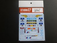 "STUDIO27【DC-1093】1/24 BMW Z4""VDS"" Nur24h 2014 DECAL(F社対応)"