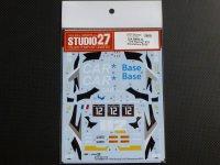 "STUDIO27【DC-1110】1/24 BMW Z4""TDS Racing""#12 Silverstone 2015 DECAL(F社対応)"